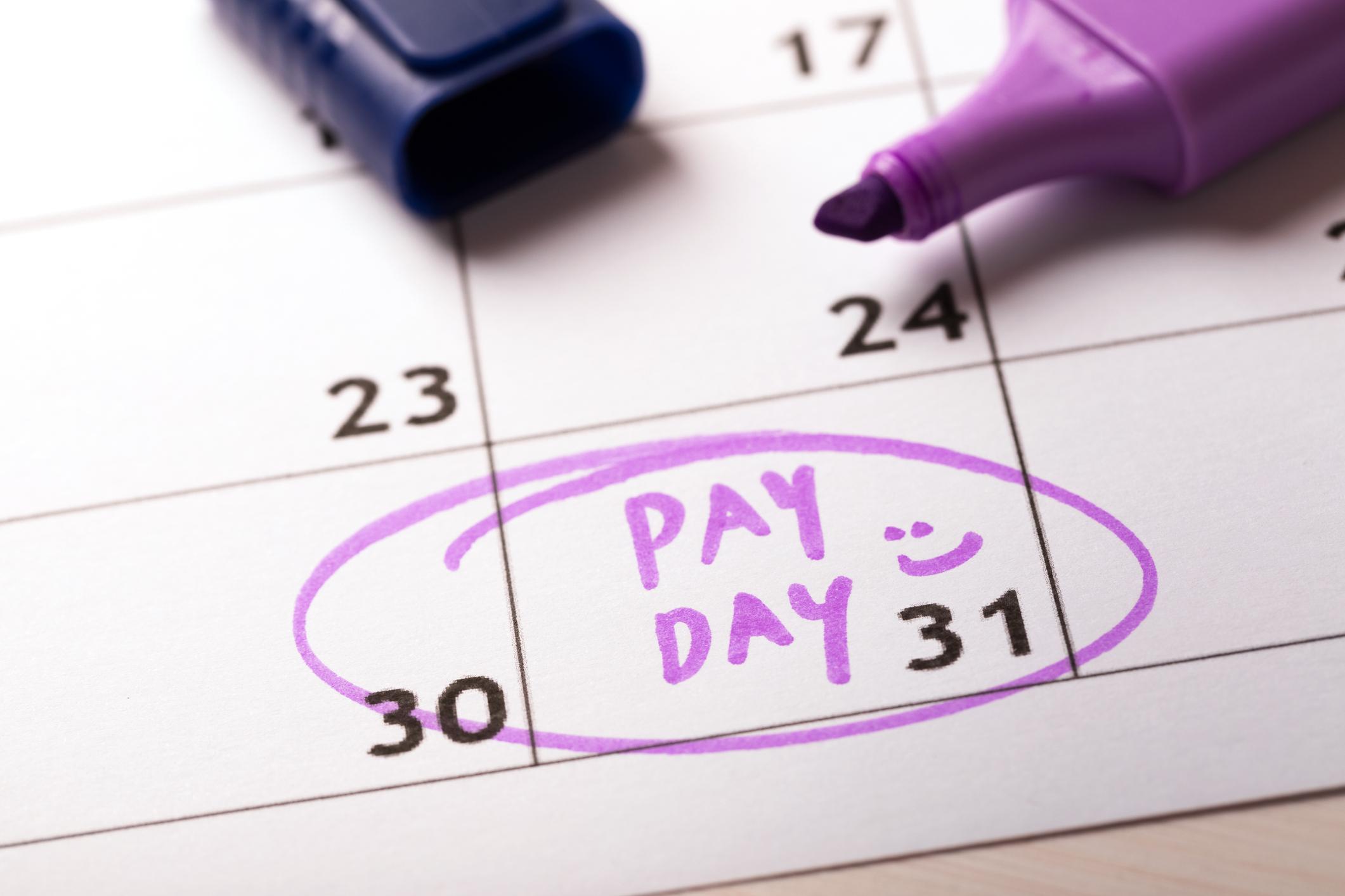 payday concept calendar
